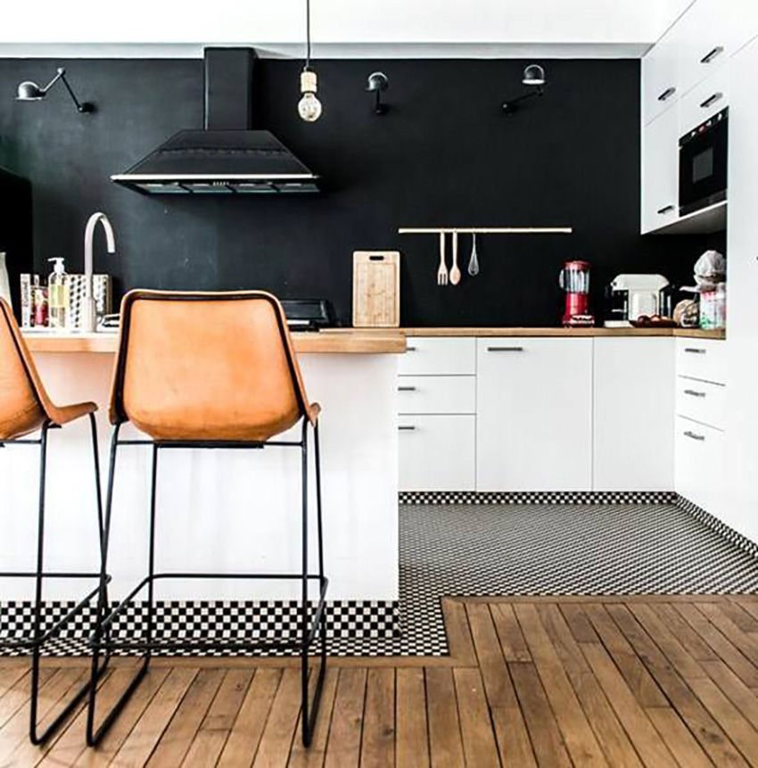 Revisit Scandinavian style with some black in your kitchen