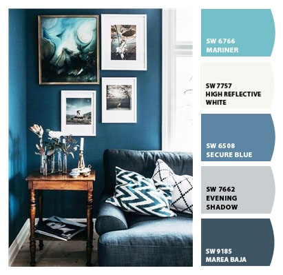 Step 2: From the focal point we select the room's colour palette
