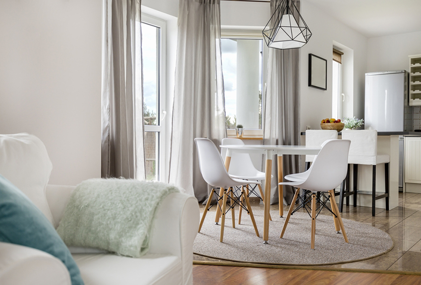 Open-plan concepts that combine both the living and dining areas