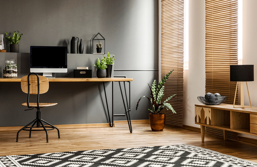 Living Room Design with a Home Office