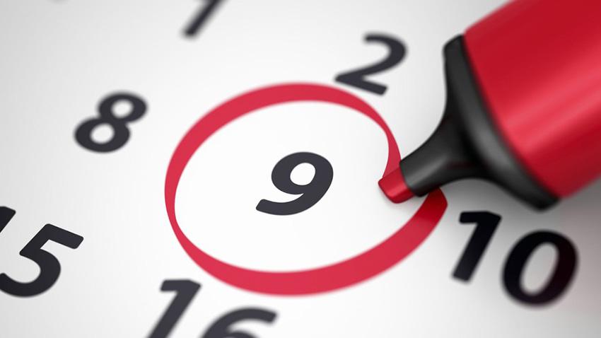 Establish a schedule with a final date.