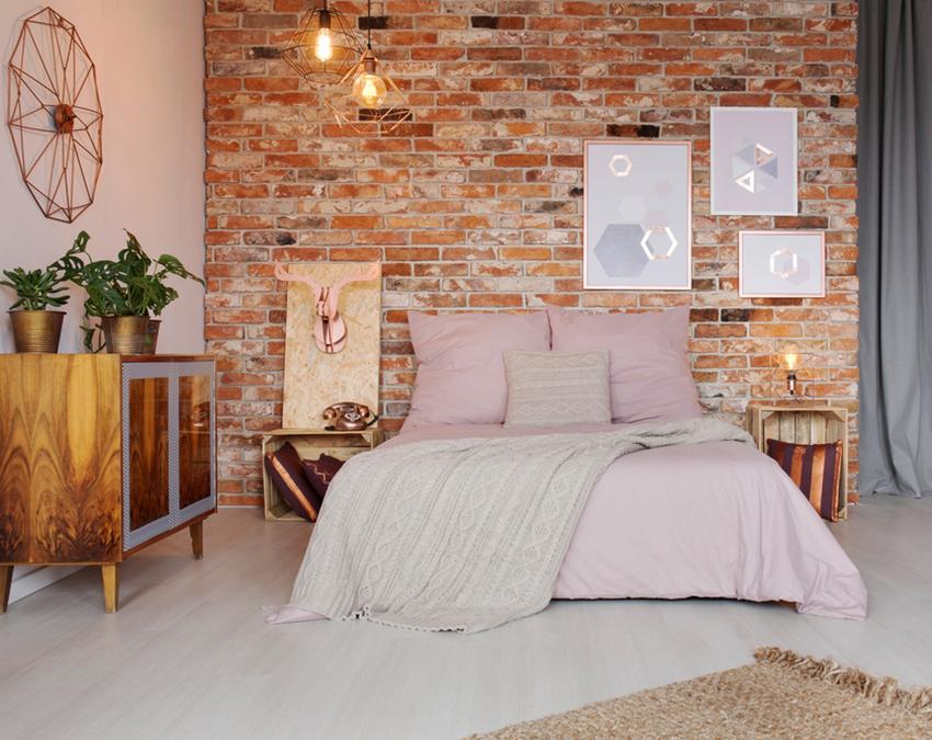 Design de sous-sol avec une chambre