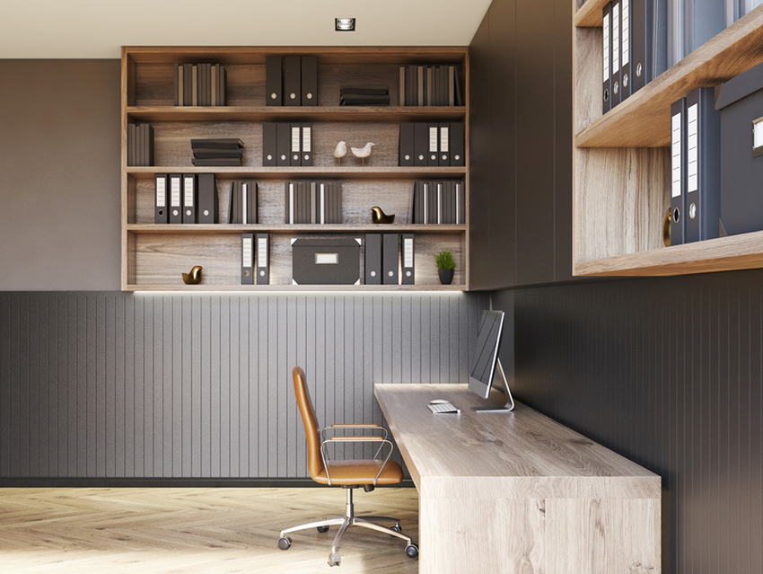 Basement Design with a Home Office