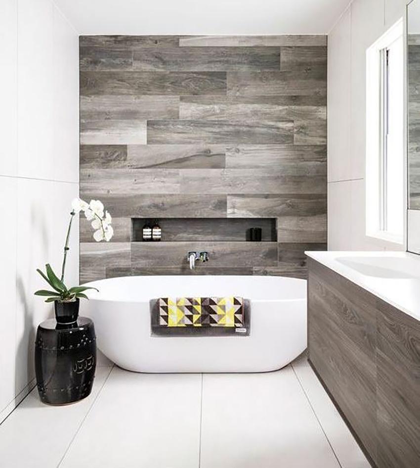 Imitation-wood tiles