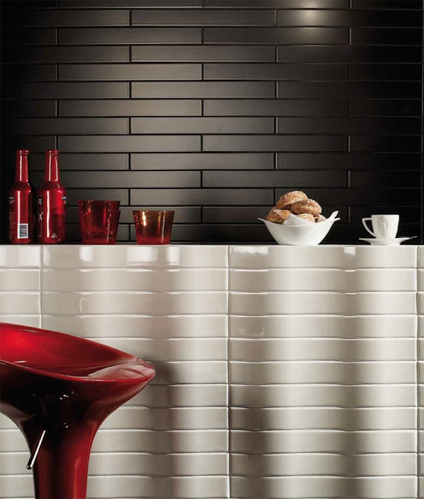 5. Install backsplash tiles with a lot of personality