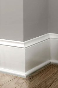 1. Use taller baseboard molding
