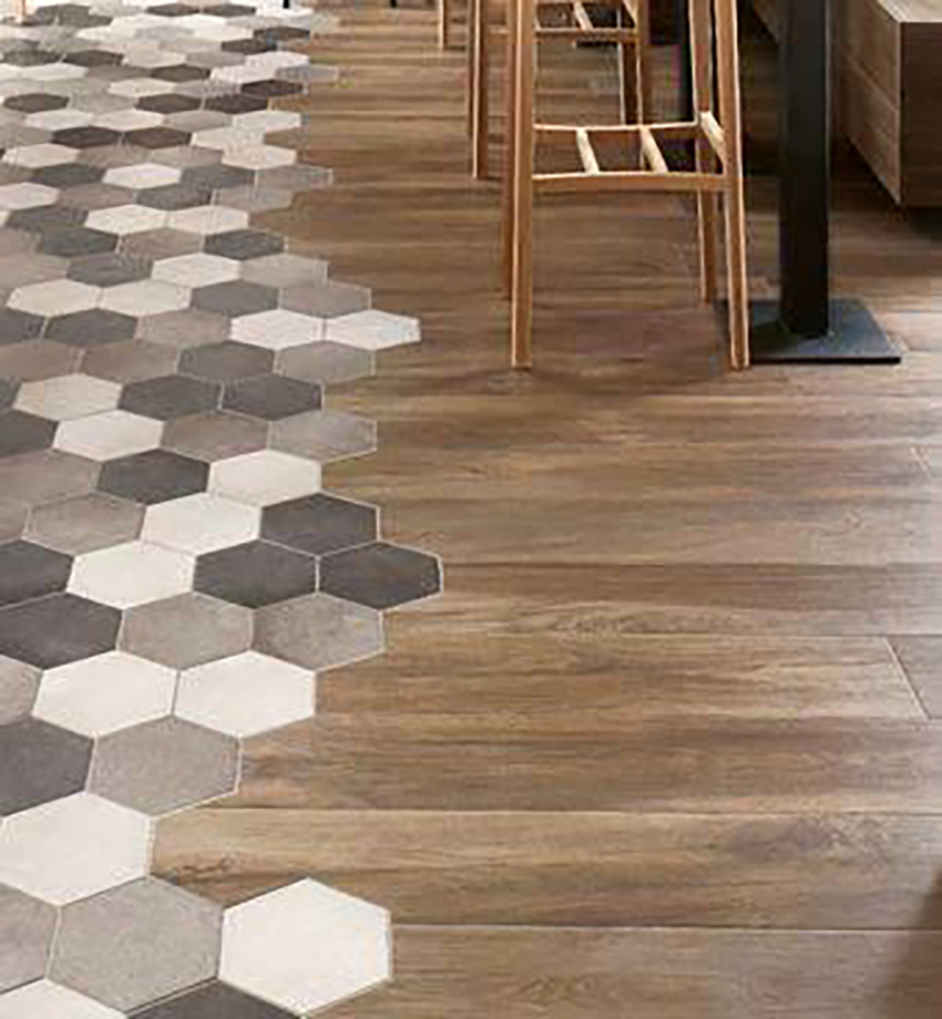Imitation wood tile