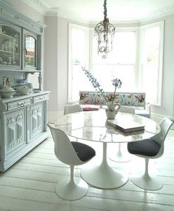 Use a round table instead of rectangular