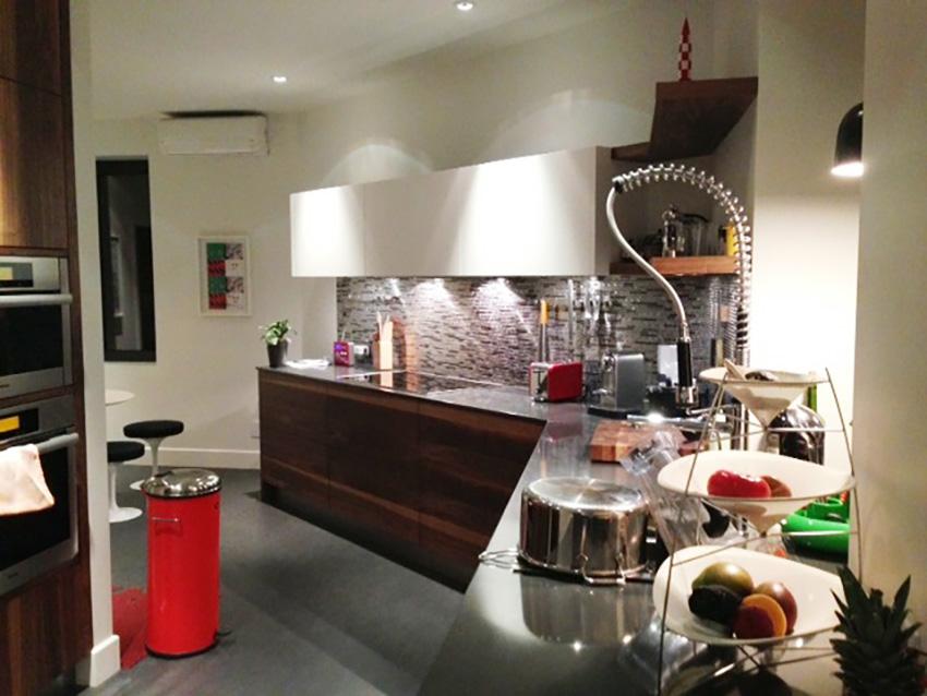 Revue du design de la cuisine et de la salle d'eau à Outremont, Qc