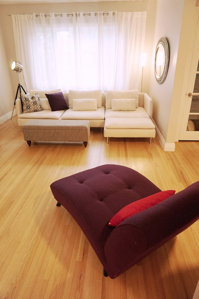 Living Room and Dining Room Interior Design in Saint-Lambert