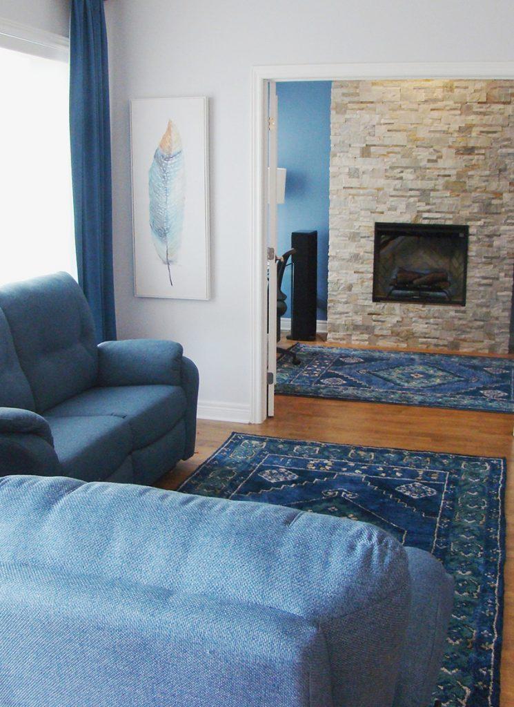 Living Room Interior Design in Saint-Henri, Montreal