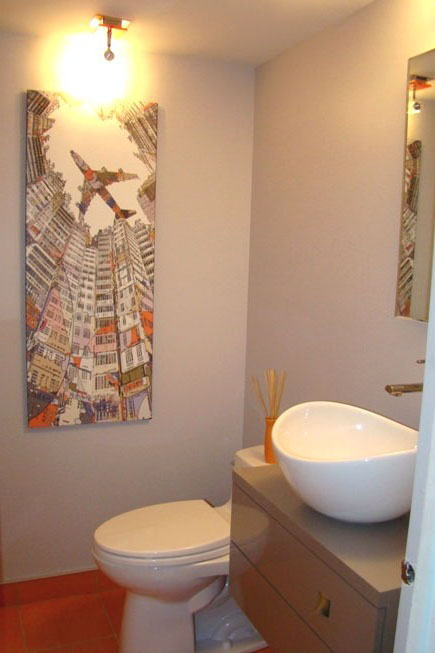 Powder Room Renovation in Lorraine