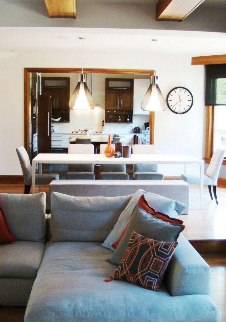 Design intérieur de salon et salle à manger à Sainte-Rose, Québec