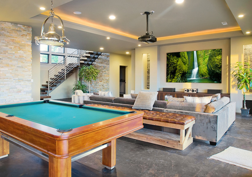Man Cave and Garage Design