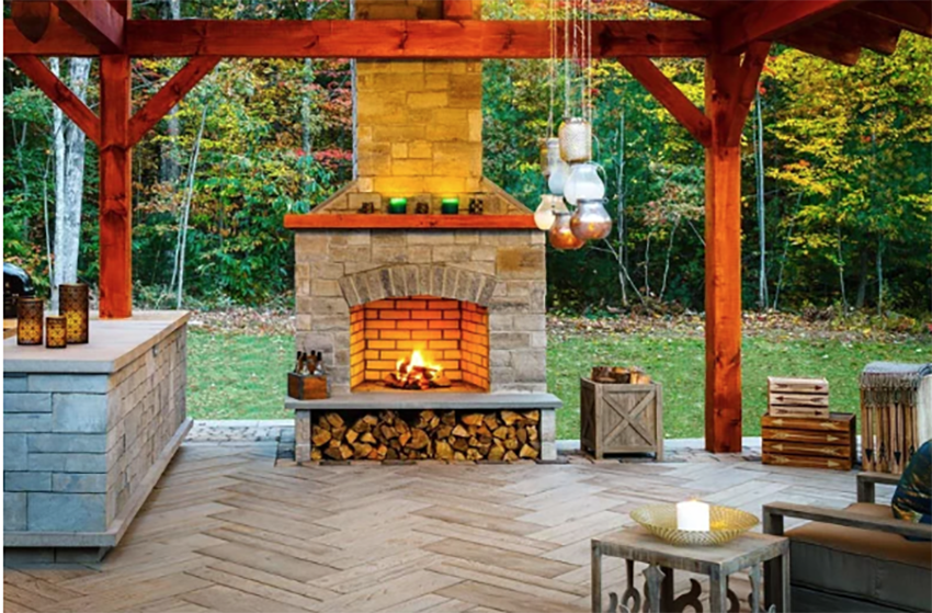 Outdoor fire pits and fireplaces are a huge trend!
