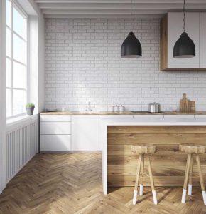 Design de cuisine pour recevoir