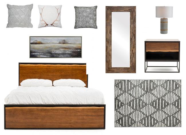 Design de chambre avec de nouveaux meubles