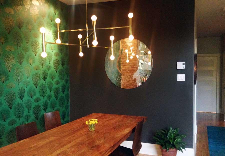 Design de salle à manger sur le Plateau-Mont-Royal à Montréal