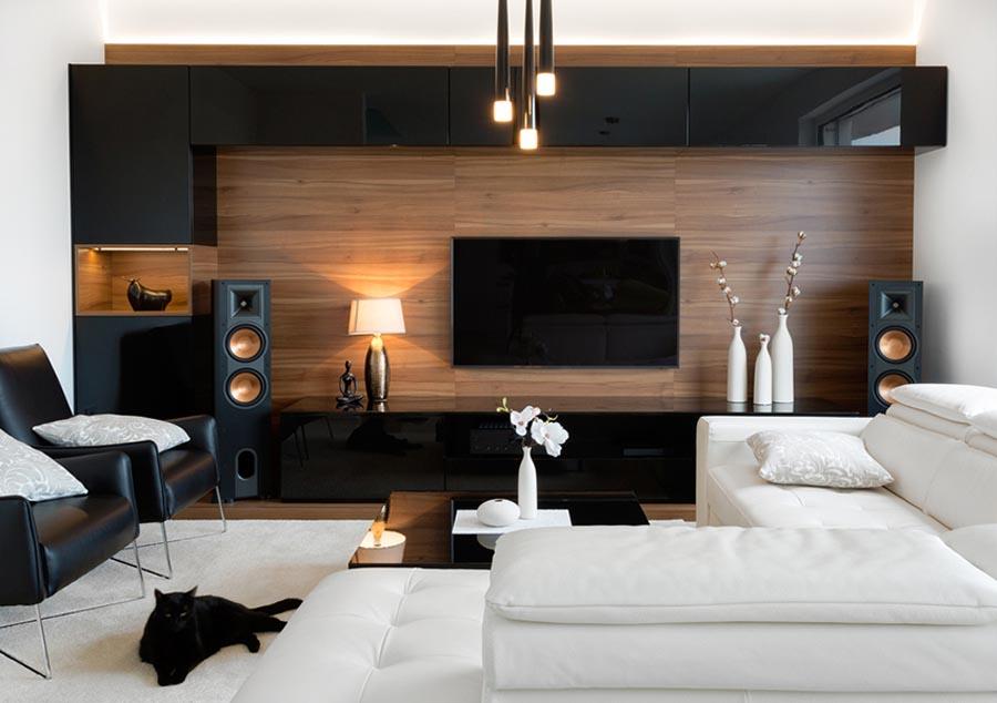 Living Room Design for Media