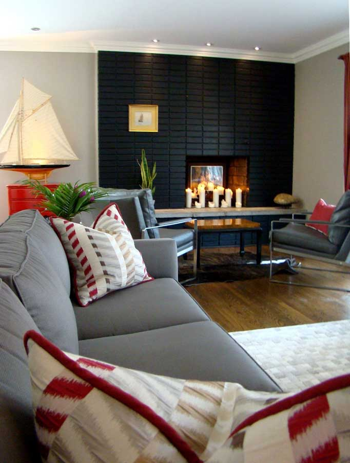 Living Room Design in Lorraine, Quebec