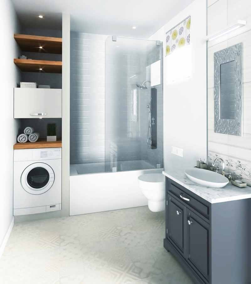 Combine Laundry Room and Guest Bathroom