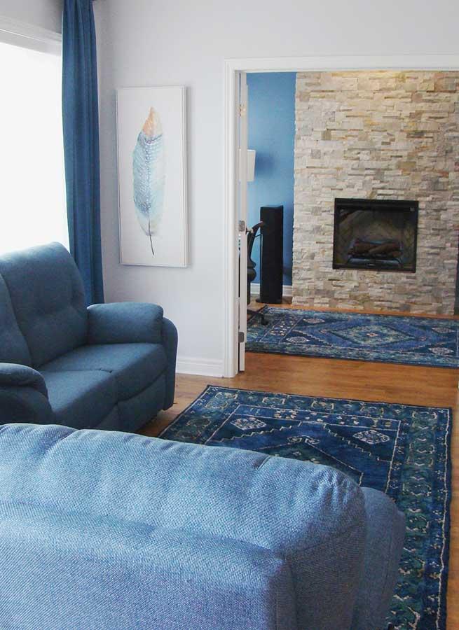 Living Room Design in Saint-Henri, Montreal