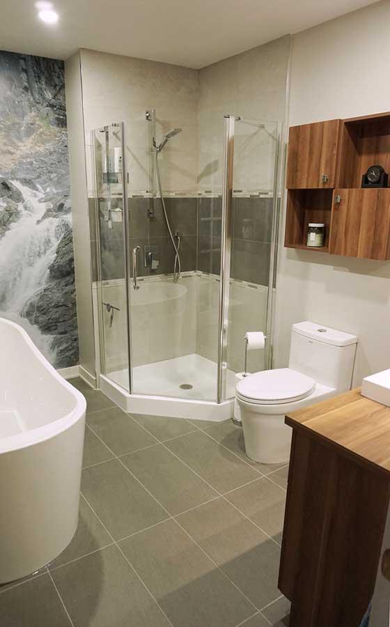 Rénovation complète de salle de bain à Candiac, Québec