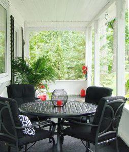 Design de terrasse champêtre