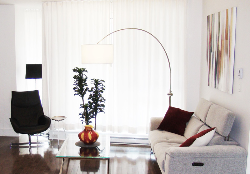 Living Room and Dining Room Design in Old Montreal