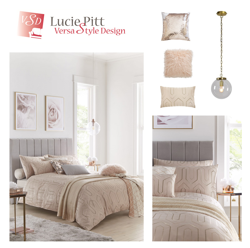 Pair grey and beige together for a serene space