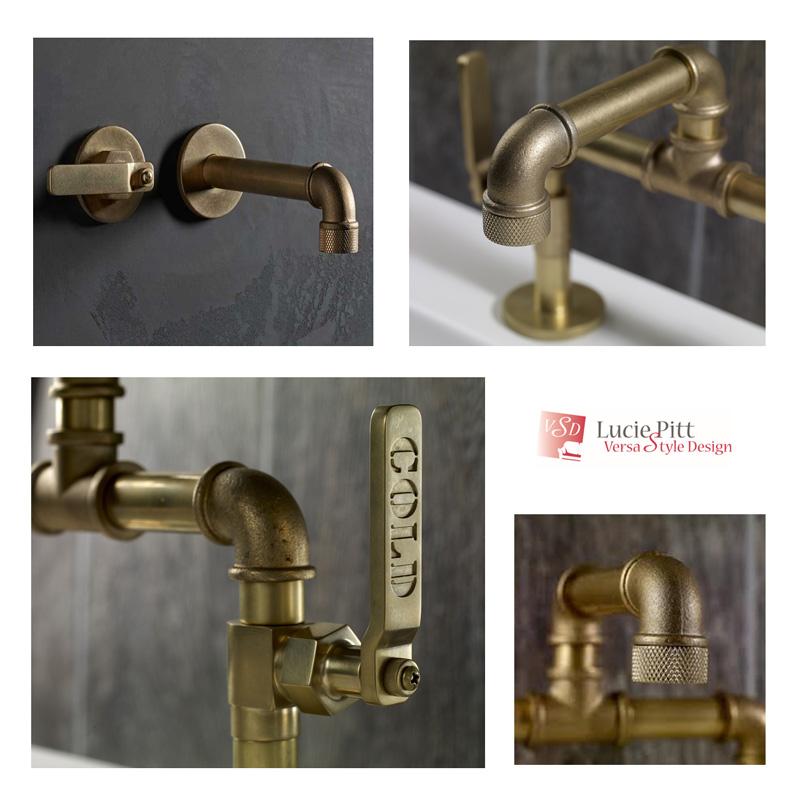 Industrial-style plumbing fixtures